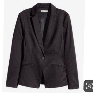 H&M Black Jersey Blazer Size 2
